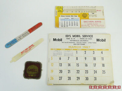 What's in Junk Drawer in a Shasta Trailer - Mobil Service Station Hand Outs