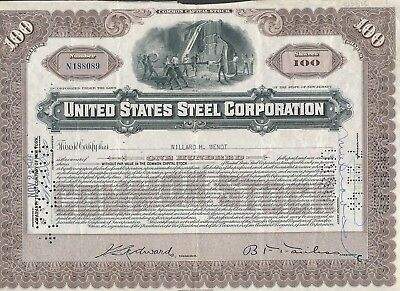 1948 United States Steel Stock Certificate