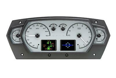 Dakota Digital HDX Universal 6 Gauge Competition Analog Silver Alloy HDX-2200-S