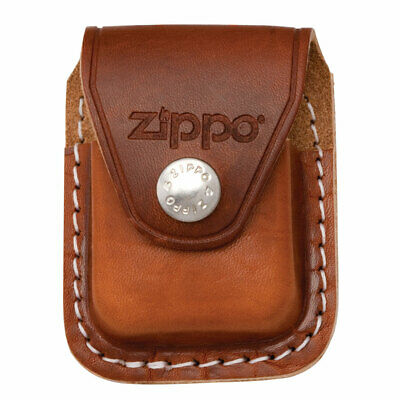 Zippo LPCB Brown Leather Lighter Pouch with Clip