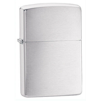 Zippo 200 Classic Brushed Chrome Finish Plain Windproof Pocket Metal Lighter