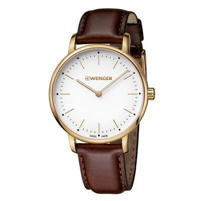 Wenger 01.1721.112 Women's Urban Classic Leather Strap Watch