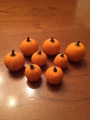 Dollhouse Miniature Mini Realistic Pumpkin Fall Thanksgiving Halloween Crafts