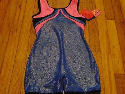 NEW-Girl--Danskin-Freestyle-Speed-Dri-Performance-Biketard-Youth-7/8