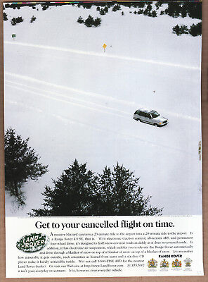 "1997 Range Rover Ad ""Get to your cancelled..."" Print Ad"
