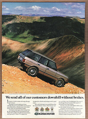 """1992 Range Rover Ad """"We send all of our..."""" Print Ad"""