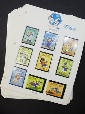 EDW1949SELL : GRENADA & GRENADINES Beautiful collection of VF MNH Disney sets ++