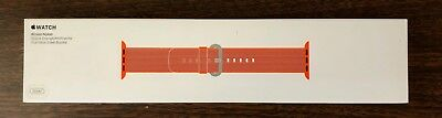 NIB Apple Watch 38mm Woven Nylon Band Space Orange Anthracite MNK52AM/A SOLD OUT