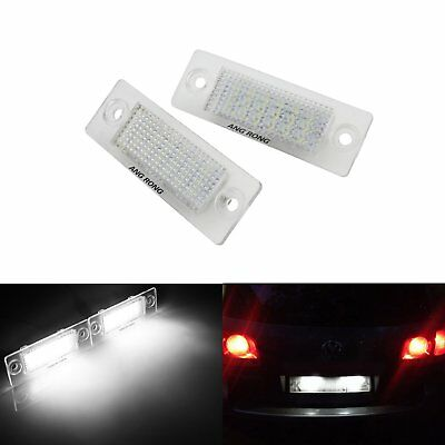 2x LED License Number Plate Light VW Transporter Caravelle Multivan Caddy Skoda
