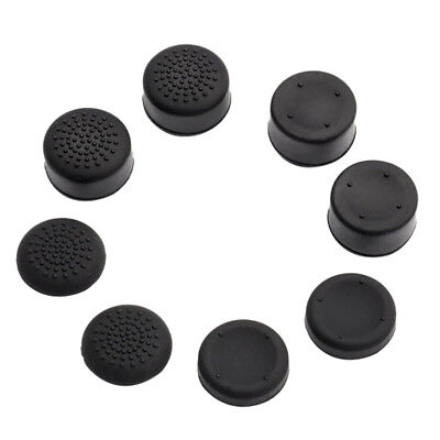 8pcs Black Silicone Thumb Stick Grip Cover Caps For PS4 Analog Controller Joypad