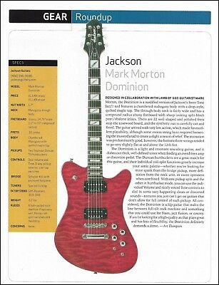 Lamb of God Mark Morton Signature Jackson Dominion Guitar specs / review article