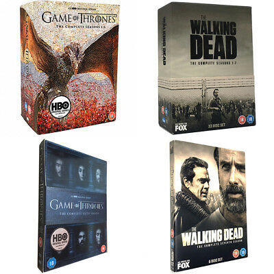 The Complete Series DVD:Game of Thrones Seasons 1-6,The Walking Dead Seasons 1-7