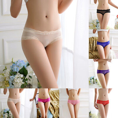 Women Mesh Lingerie Knickers Soft G-string Thongs Panties Underwear Nylon Briefs