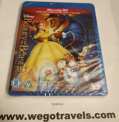 Disney's BEAUTY AND THE BEAST Brand New 3D BLU-RAY (and 2D) Region-Free Import