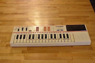 Vintage Casio PT-82 Keyboard Casiotone Electronic Synthesizer & ROM Pack TESTED!