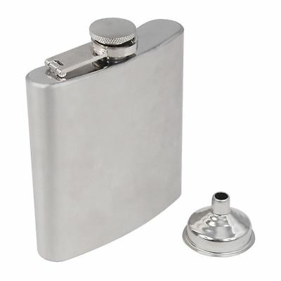 Stainless Steel Hip Liquor Whiskey Alcohol Pocket Flask Gift Box + Funnel Y8Q5 A