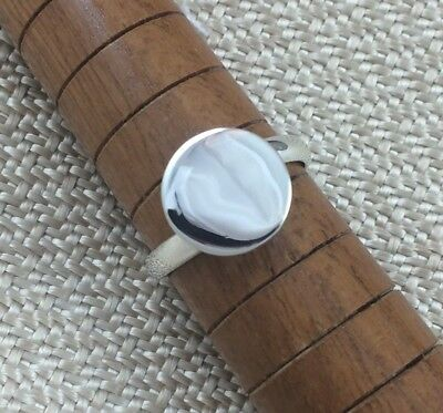 Sterling Silver Ring Blank 12mm Pad Base Adjustable Style .925 Quality Finding