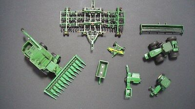 HUGE 1/64 Scale JOHN DEERE Tractors - Combine - Implements - Seeder - ERTL Die