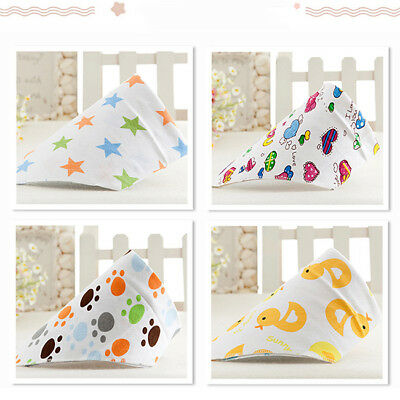 Cotton Soft Infant Baby Bibs Kid Feeding Bandana Newborn Burp Bib CB