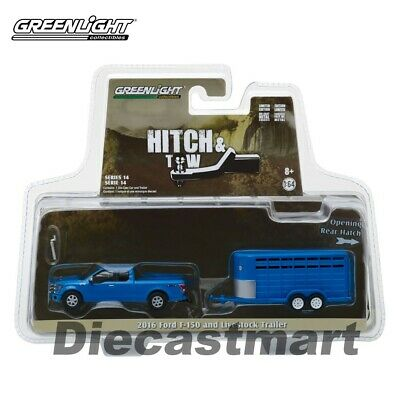 GREENLIGHT 51212 HITCH /& TOW TRAILERS LIVESTOCK TRAILER 1//64 WHITE