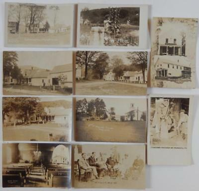10 Antique RPPC Postcards President Coolidge Mrs Plymouth VT Home Thomas Edison