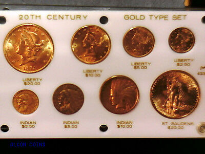 8 Coin Pre 1933 Us Gold Coin Type Set Nice Look