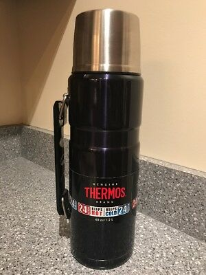 Thermos King Stainless 40-oz Vacuum-Insulated Food Beverage Bottle Midnight Blue
