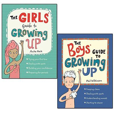 Guide to Growing Up Girls' and Boys' 2 Books Collection Set Paperback Brand NEW