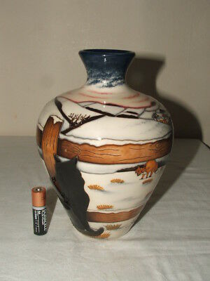 Moorcroft Farmyard Tractor Birds Home To Roost 77 Vase Rrp 465 1st