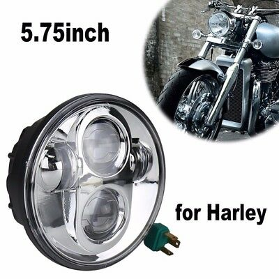 Chrome 5.75'' Daymaker Projector LED Headlight For Harley Sportster XL830 XL1200