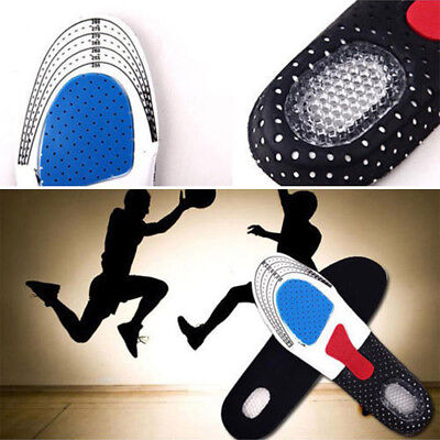 1 Pair Silicone Gel Plantar Fasciitis Orthotic Insoles Arch Sports Shoe Pads NEW