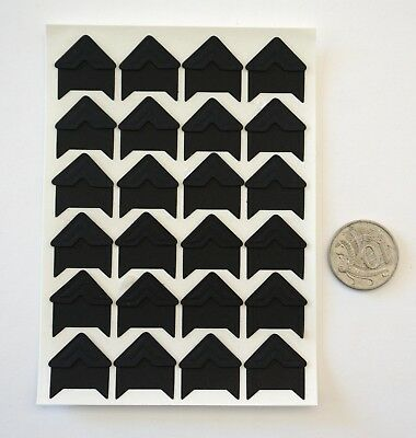 NO 005 Scrapbooking -24 Black Photo Picture Adhesive Corners Stickers Scrapbook