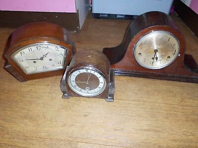 3 x Mantle Clocks Spares or Repairs