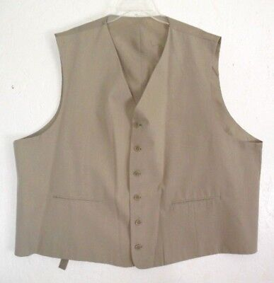 John Rafael Beige Men's Poly Rayon Suit Vest 56 R  .. Chest 58""