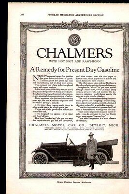 1920 ad for The Chalmers Motor Car of Detroit (A remedy for present day gasoline
