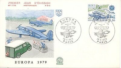First Day Cover Airplane Aeropostale Memory Europa 1979 premier jour Aviation
