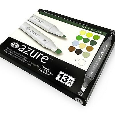 Royal and Langnickel - Azure Artists Markers - Dual Tip - Forest Set of 13