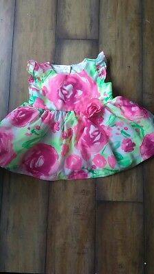 2b0bf49f2 NWT THE CHILDRENS Place Girls Floral Short Sleeve Dress 2T 3T 4T ...