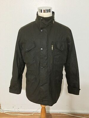 NWT Men's BARBOUR Sapper Waxed Cotton Jacket, XX-Large, Olive