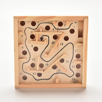Puzzle Toys Wooden Labyrinth Balance Board Game Children EducationalECTB