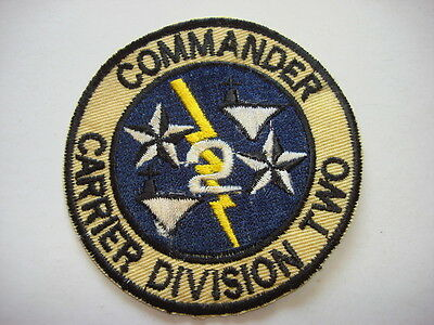 US Navy COMMANDER CARRIER DIVISION TWO CARDIV 2 - Vietnam War Patch