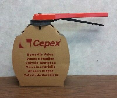 "Cepex D160 6"" Butterfly Valve with Lock Handle"