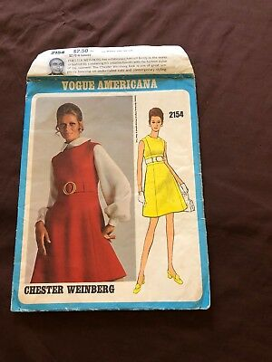 Vintage Vogue Americana sewing pattern #2154 Onepiece Jumper By Chester Weinberg