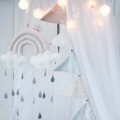 Cute Cloud Raindrop Rainbow Hanging Decor DIY Baby Room Decor Kids Room Gift 8C