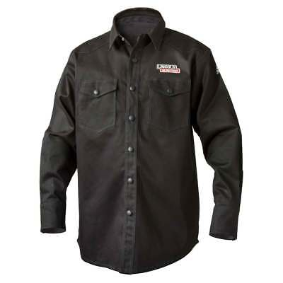 Lincoln Electric K3113 9 oz. FR Black Welding Shirt, Medium
