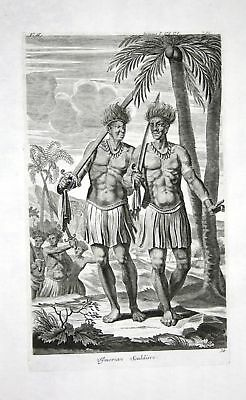 1730 Timor island Indonesia soldiers Kupferstich engraving Churchill
