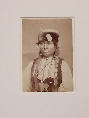 """Will Soule Original Albumen print  """"Sitting in the Saddle"""" Lone Wolf's Son  1870"""