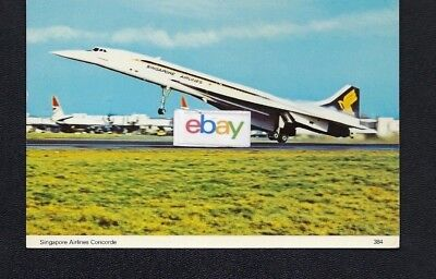 Singapore Airlines Bac Concorde S.s.t. At London Heathrow Postcard
