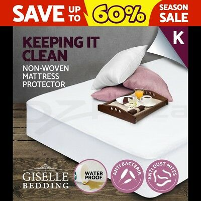 Giselle Bedding Fully Fitted Waterproof Mattress Protector Non Woven King Cover