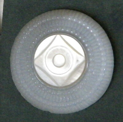 Bb Clambroth Glass + Mother of Pearl! Antique BUTTON Large!!!